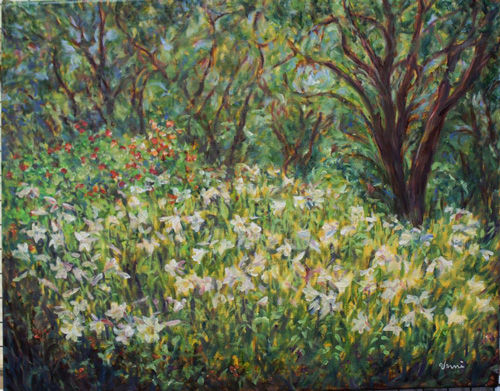 Spring Garden Is The Painting We Will Create At This Sip And Paint Cl There Are Still Openings You Can Sign Up By Calling Artist Unni