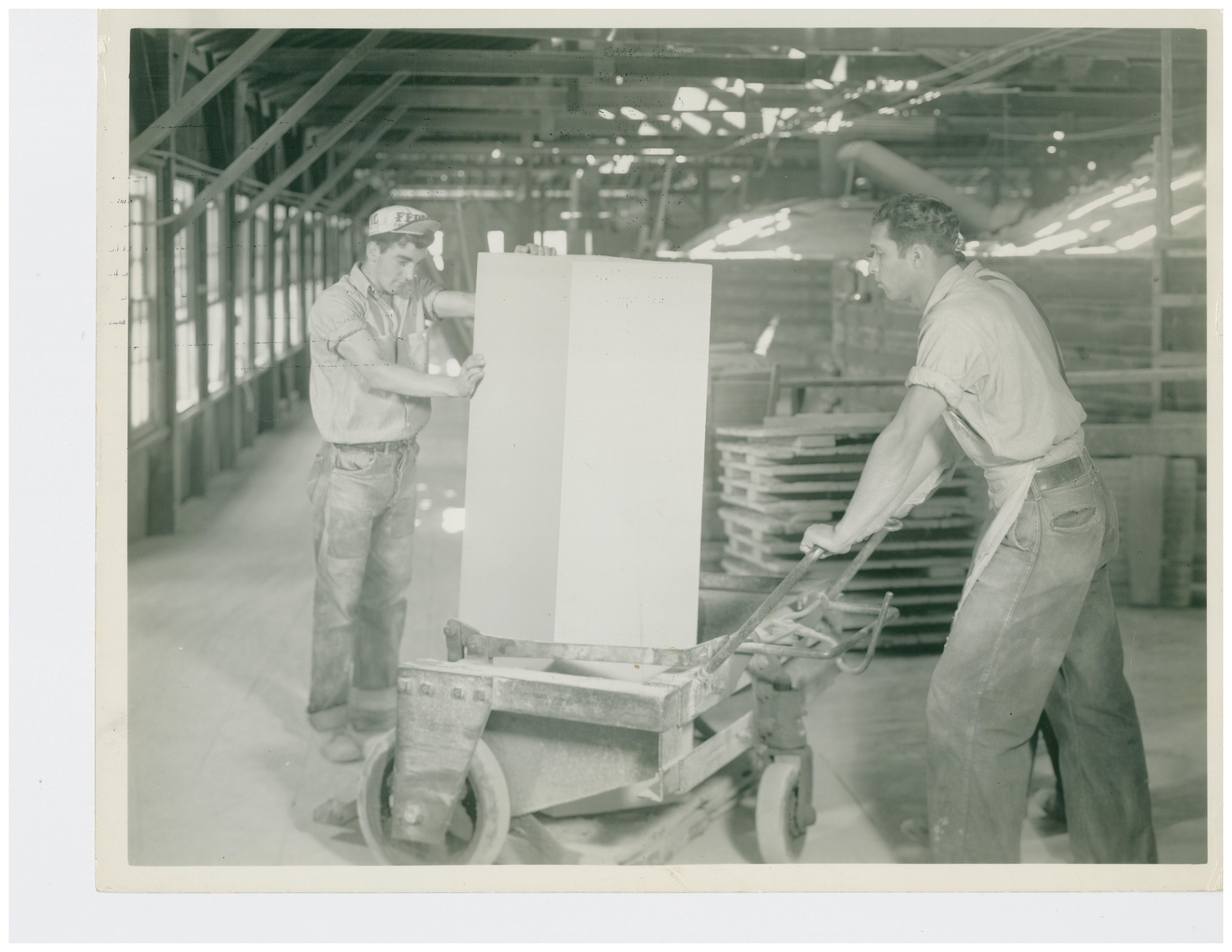 1946 Hauling Terra Cotta to be set in the Muffel Kiln