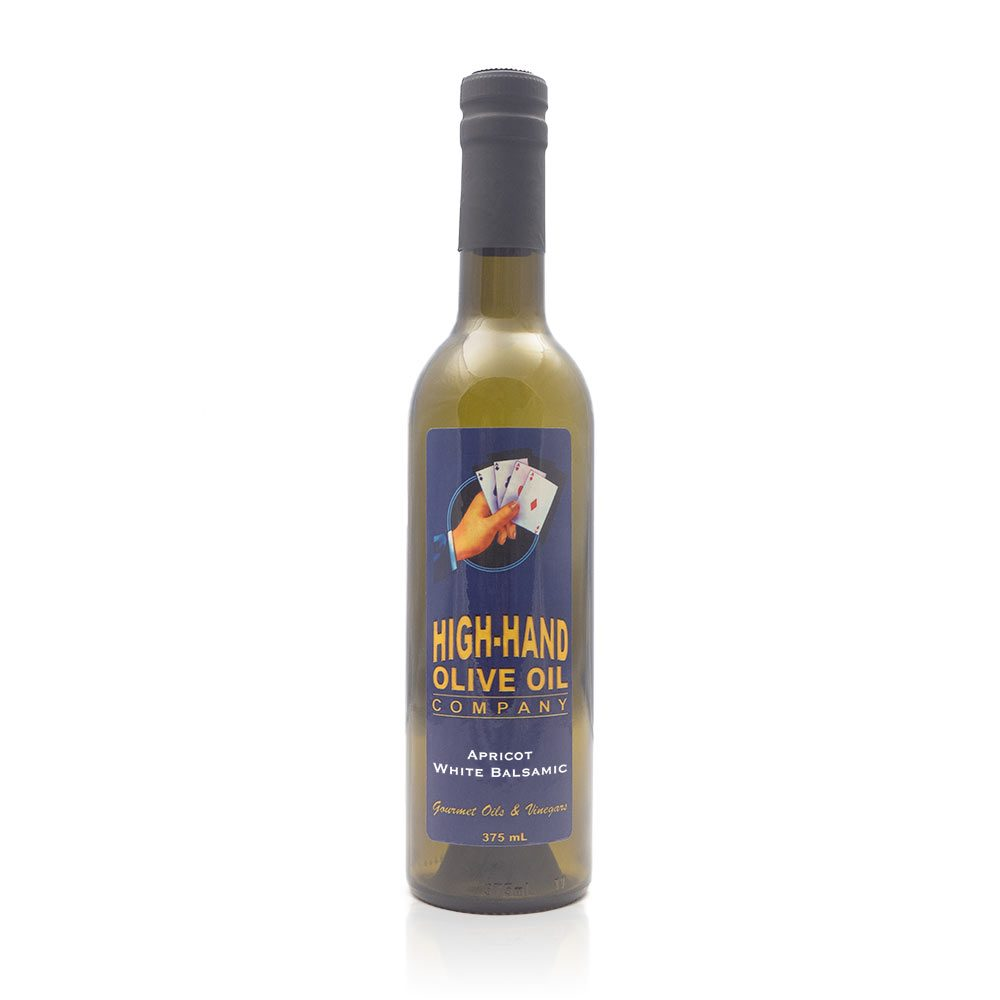 Image of a 375ml bottle of Apricot White Balsamic Vinegar