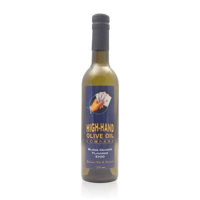 Image of a 375ml bottle of Blood Orange Extra Virgin Olive Oil