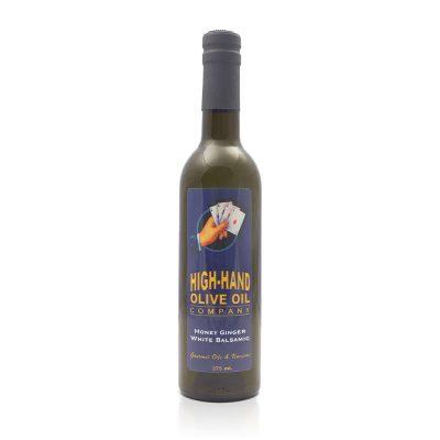 Image of a 375ml bottle of Honey Ginger White Balsamic Vinegar