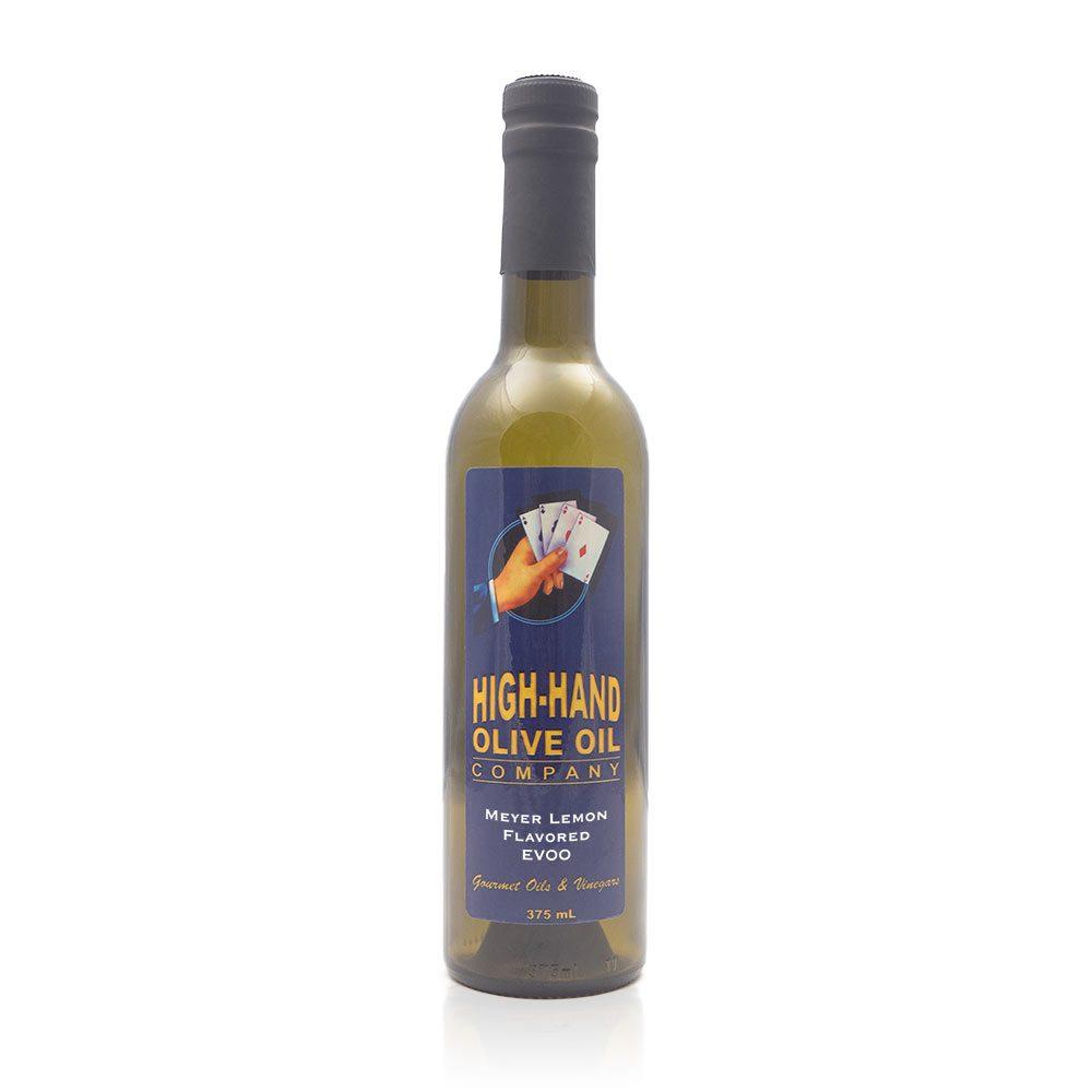 Image of a 375ml bottle of Meyer Lemon Extra Virgin Olive Oil