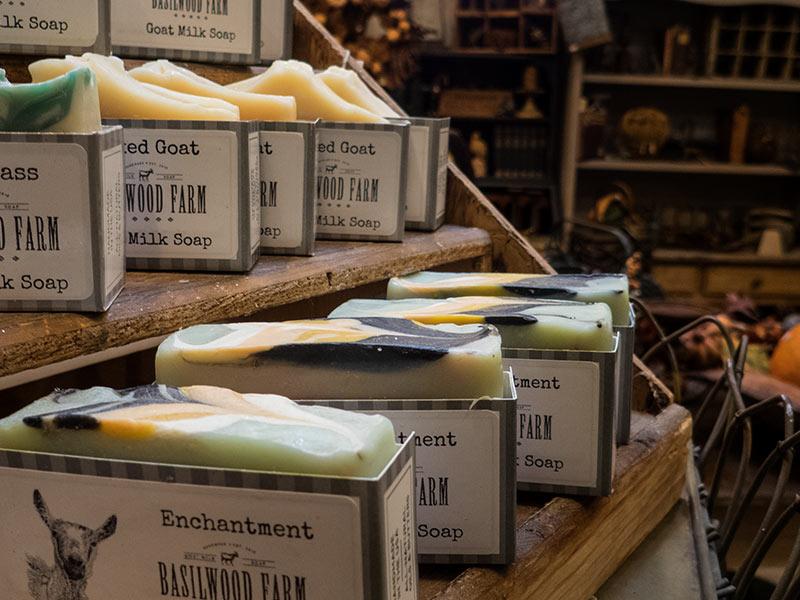 A variety of Goat Milk Soap from Basilwood Farm