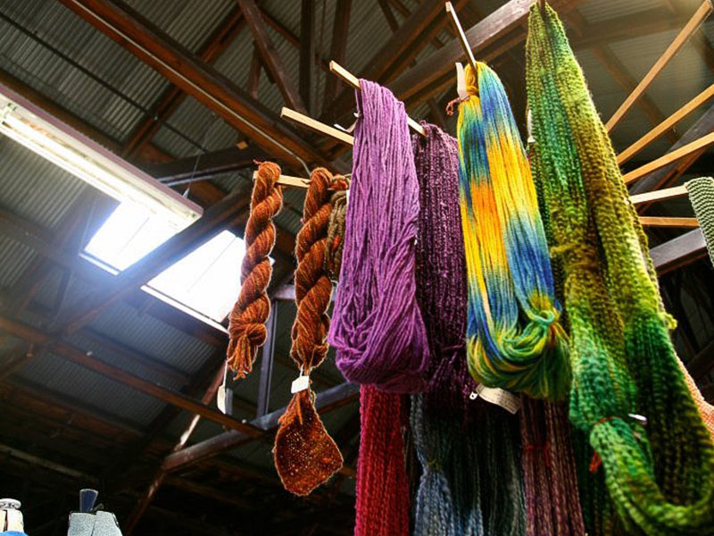 Gorgeous yarn and scarves