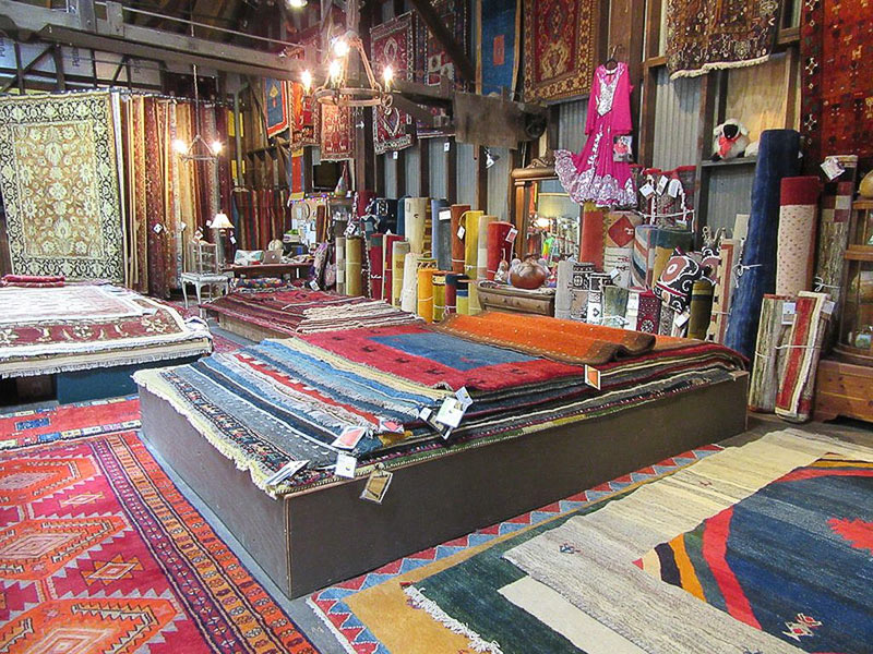 Persian rugs as far as the eye can see...