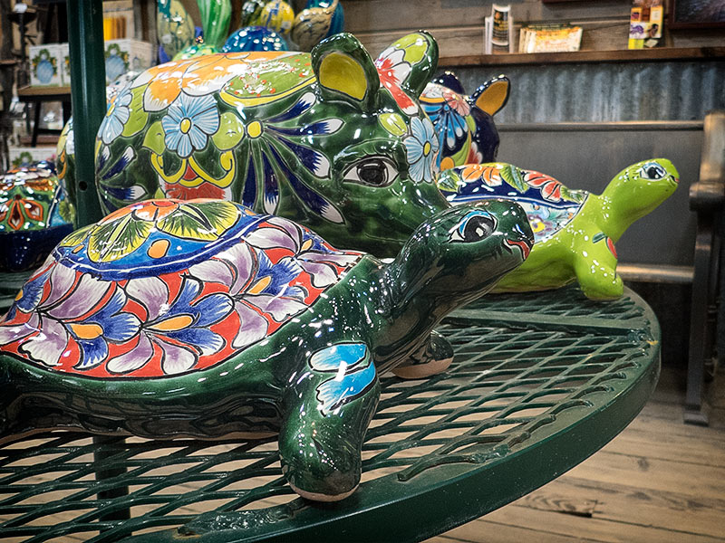 Gorgeous custom ceramic pigs and turtles
