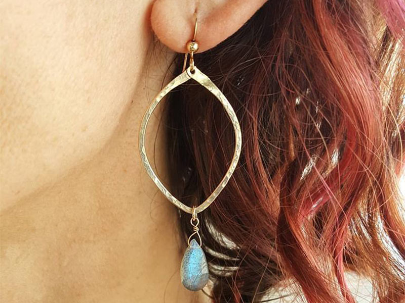Stunning earrings from Leo Eleven Designs
