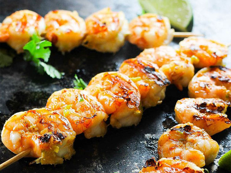 Grilled Tiger Shrimp Satay