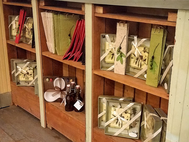 An assortment of gifts available at the High-Hand Olive Oil Company
