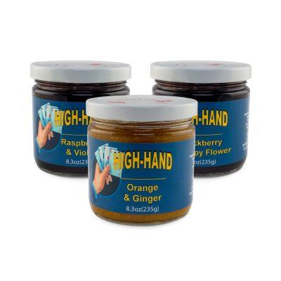 Image of a three jar Popular Artisanal Jams Sampler Gift Set