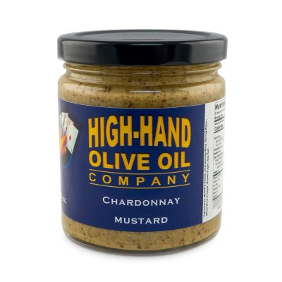 Image of a 9 oz jar of Chardonnay Mustard