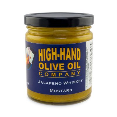 Image of a 9 oz jar of Jalapeno Whiskey Mustard
