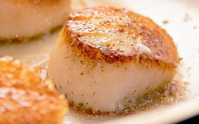 Green Apple White Balsamic Seared Scallops