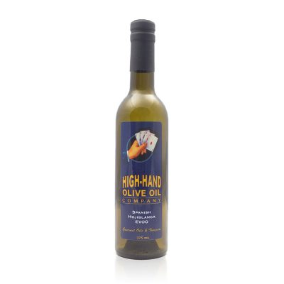 Image of a 375ml bottle of Spanish Hojiblanca Extra Virgin Olive Oil